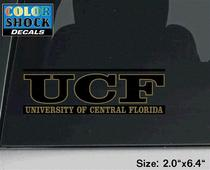 UCF Knights Color Shock School Name Decal