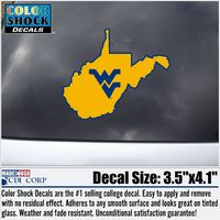 WVU Mountaineers Color Shock Name Decal