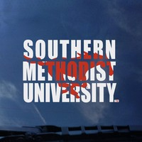 SMU Mustangs Color Shock School Name Decal