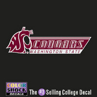 Washington State Cougars Color Shock School Name Decal