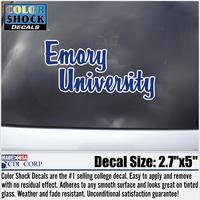 Emory Eagles Color Shock School Name Decal