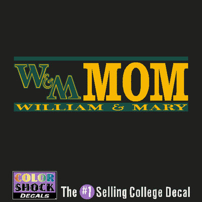 William and Mary Colorshock Decal