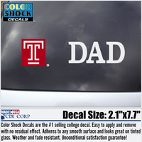 Temple Dad Colorshock Decal