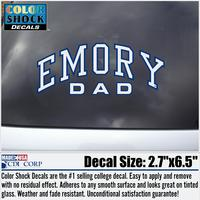Emory Eagles Colorshock Decal