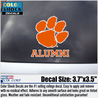 Clemson Tigers Colorshock Alumni Decal