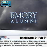 Emory Eagles Colorshock Alumni Decal