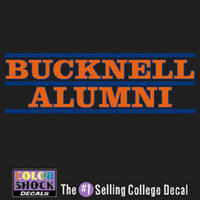 Bucknell Colorshock Alumni Decal