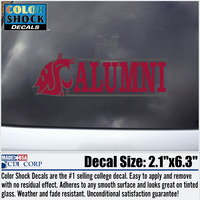 Washington State Cougars Colorshock Alumni Decal