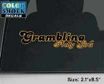 Grambling State Tigers CDI Square Decal