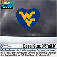 WVU Mountaineers CDI Square Decal