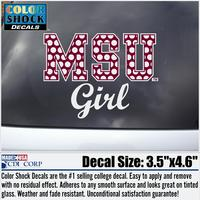 Mississippi State Bulldogs CDI Square Decal