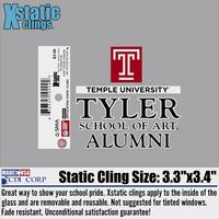 Tyler Alumni Static Cling Decal