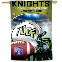 ChickfilA Peach Bowl UCF Football 2018 Vertical Flag
