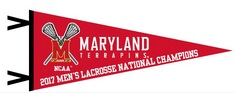 2017 NCAA Mens Lacrosse National Champs 12x30 Pennant