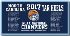 NCAA Mens Basketball National Champions 18x36 Banner