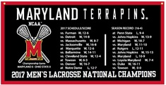 2017 NCAA Mens Lacrosse National Champs 18x36 Banner