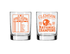 National Champs Rocks Glass