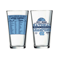NCAA Mens Basketball National Champions 16oz Pint Glass