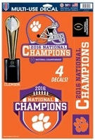 National Champs 11x17 Multiuse Decals