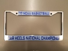 NCAA Mens Basketball National Champions License Plate Frame