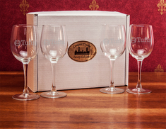 Crystal Set of Two White Wine Glasses