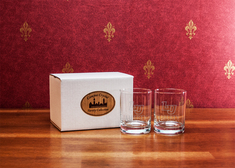 Crystal Set of Two Double Old Fashion Glasses