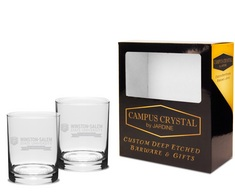 Set of 2 Crystal Double Old Fashion (online only)