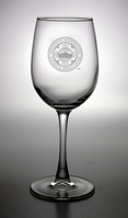 Boston Terriers Campus Crystal Classic Wine Glass