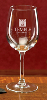 Temple Campus Crystal Classic Wine Glass