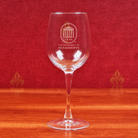 Ole Miss Campus Crystal Classic Wine Glass