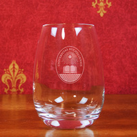 Bucknell Campus Crystal Stemless Wine Glass