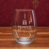 Temple Campus Crystal Stemless Wine Glass