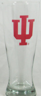 Indiana Hoosiers Glass Pilsner