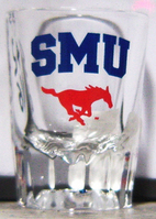 SMU Mustangs Fluted Shot Glass