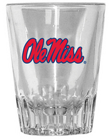 Ole Miss Fluted Shot Glass