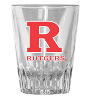 Rutgers Scarlet Knights Fluted Shot Glass