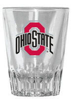 Ohio State Buckeyes Fluted Shot Glass