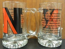 Northeastern Huskies Glass Tankard
