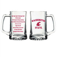 Washington State Cougars Glass Tankard