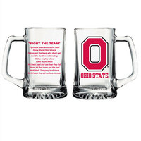 Ohio State Buckeyes Glass Tankard