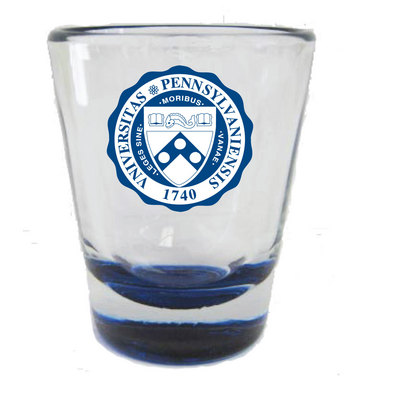 Penn Colored Bottom Shot Glass