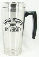 Stainless Steel Travel Mug with Leather Wrap
