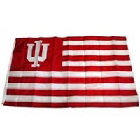Indiana Hoosiers Appliqued Flag