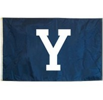 Yale Bulldogs Appliqued Flag