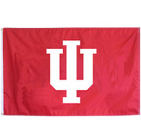 Indiana Hoosiers Embroidered/Appliqued Flag