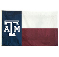 Texas A&M Aggies Embroidered/Appliqued Flag