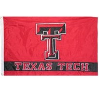 Texas Tech Red Raiders Embroidered/Appliqued Flag