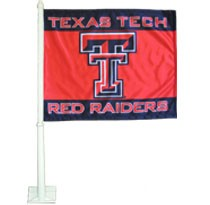 Texas Tech Red Raiders Car Flag with Plastic Rod