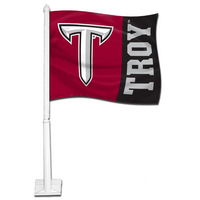 Troy University Car Flag with Plastic Rod