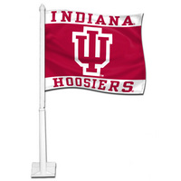 Indiana Hoosiers Car Flag with Plastic Rod